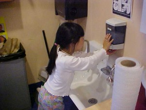 Frequent handwashing helps reduce illness. 